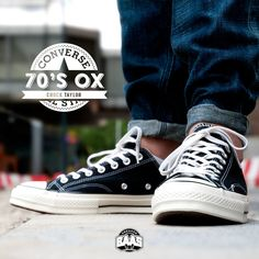 "#converse #allstar #chucktaylor #70sox #chucks #sneakerbaas #baasbovenbaas  Converse Chuck Taylor 70s OX ""Black"" - Available online - Priced at 79,95 Euro!  For more info about your order please send an e-mail to webshop #sneakerbaas.com!"