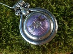 Tibetan Antique Silver pendant with a stunning by dabsdesigns