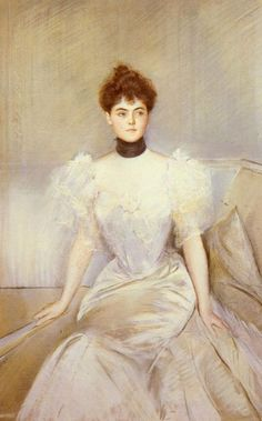 ▴ Artistic Accessories ▴ clothes, jewelry, hats in art - Paul Cesar Helleu