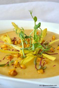 reteta supa crema de legume savori urbane Soup And Salad, Thai Red Curry, Salads, Goodies, Child Friendly, Urban, Ethnic Recipes, Soups, Food