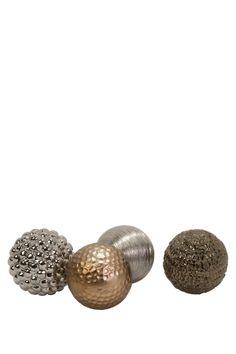 Imax Metallic Finished Orbs - Set of 4 on HauteLook