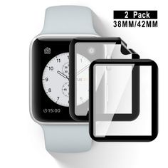 Slim and Clear - Please Note: Not glass, but a flexible material. This apple watch 42 screen protector is ultra-thin, do not add the bulk. Smooth touch, clear and high sensitivity response makes your apple watch 42 screen as original. -- Details can be found by clicking on the image. (As an Amazon Associate I earn from qualifying purchases)