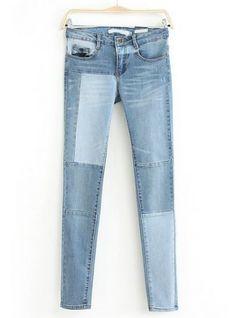 Blue Slim Bleached Denim Pant pictures