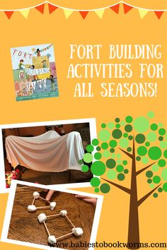 Babies to Bookworms shares camping books and activities to help you camp indoors with kids on those rainy days of summer! Family Activities, Toddler Activities, Learning Activities, Number Activities, Camping Books, Build A Fort, Toddler Preschool, Toddler Fun, Learning Through Play