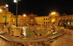 Szechenyi Spa, Budapest - one of the most surreal experiences, especially on a full moon night in winter