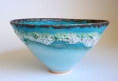 Raku Pottery, Pottery Bowls, Pottery Painting, Ceramic Painting, Ceramic Clay, Ceramic Bowls, Pottery Designs, Pottery Ideas, Clay Bowl