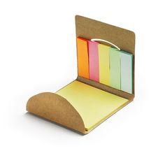 Kostka - eko pojemnik na długopisy z karteczkami