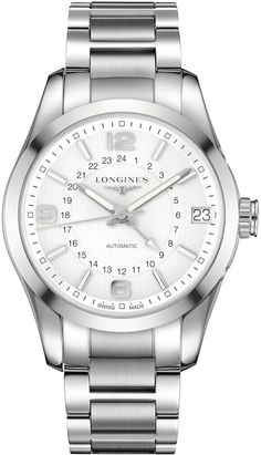 @longineswatches  Conquest Classic #add-content #bezel-fixed #bracelet-strap-steel #brand-longines #case-material-steel #case-width-42mm #date-yes #delivery-timescale-1-2-weeks #dial-colour-silver #gender-mens #gmt-yes #l27994766 #luxury #movement-automatic #official-stockist-for-longines-watches #packaging-longines-watch-packaging #style-dress #subcat-conquest #supplier-model-no-l2-799-4-76-6 #warranty-longines-official-2-year-guarantee #water-resistant-50m
