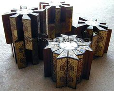 《[¤]》 Movable Hellraiser Puzzle Box ~ showing the different configurations