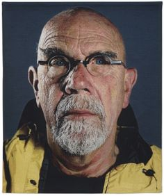 """Chuck Close: """"Inspiration is for amateurs — the rest of us just show up and get to work."""" 
