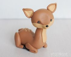 Fox Woodland Clay Cake topper and keepsake by HeartmadeCottage