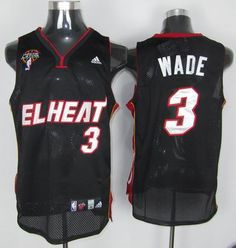 0e3395db942 Adidas NBA Miami EL Heat 3 Dwyane Wade Swingman Black Latin Nights Jersey