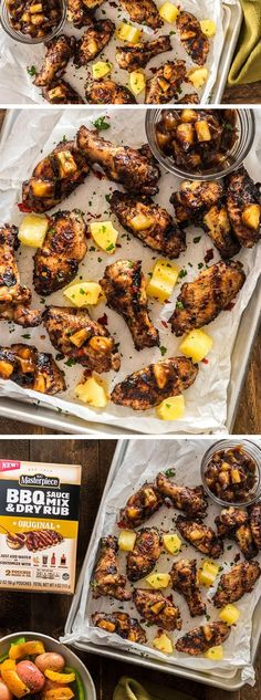 Super simple and delicious GRILLED WINGS with a sticky sweet-and-sour SAUCE that uses only five ingredients!
