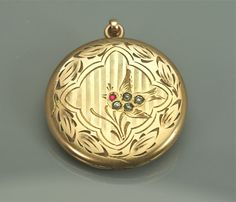 Antique Locket Etched Etched Bird  Unique GF by EarlyBirdJewels, $82.00