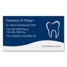 Dentist Business Cards. This great business card design is available for customization. All text style, colors, sizes can be modified to fit your needs. Just click the image to learn more!