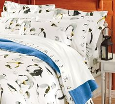 Penguin Flannel Bedding  in Winter White Sale 2013 from Cuddledown on shop.CatalogSpree.com, my personal digital mall.