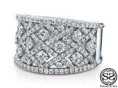 Diamond Netting Wide Custom Engagement Ring - YouTube