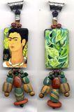 118:2011 Frida and the Monkey, Frida Kahlo Art Pendant by Cathy Carey©2014
