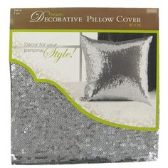 x Silver Sequin Decorative Pillow Cover- Hobby Lobby Hobby Lobby, My Room, Girl Room, Sequin Pillow, Decorative Pillow Covers, Cover Pillow, Best Pillow, Pillow Forms, Bedroom Decor