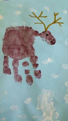 Handprint reindeer/moose