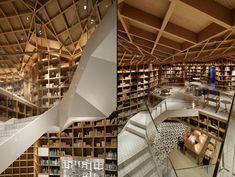 HYUNDAI card travel library by Wonderwall, Seoul   Korea travel agency cafe bookstore