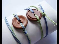 Bracelets made from buttons!