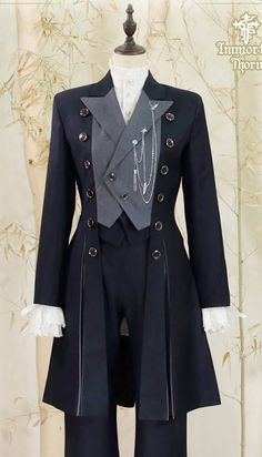 Immortal Thorn -The Forever Prince- Ouji Lolita Jacket Old Fashion Dresses, Fashion Outfits, Fashion Shirts, Pretty Outfits, Cool Outfits, Scene Outfits, Kawaii Clothes, Mode Vintage, Cosplay Outfits