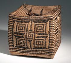 Africa | Basket from the Mahafaly people of Madagascar | Plant fiber, dye | ca. 1953