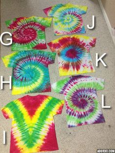 Men and Women's Homemade Tie Dye Blow Out by FestivalTreasures, $7.00