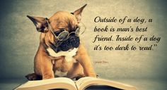 Outside Of A Dog A Book Is Man's Best Friend Inside Of A Dog Its Too Dark To Read ~ Books Quotes