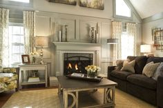 An Accented Fireplace