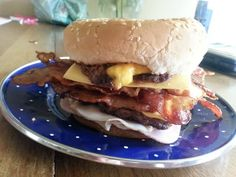 """Ultimate Hamburger! """"This will beat out any hamburger in a taste test""""  @allthecooks #recipe #burger #hamburger #dinner #pork #bbq"""