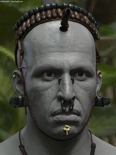 Apocalypto's Middle Eye - Head Clay Render, Peter Zoppi on ArtStation at http://www.artstation.com/artwork/apocalypto-s-middle-eye-head-clay-render