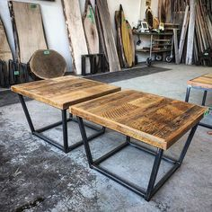Nice pair of end tables available at our Toronto  shop - they are 20 by 20 inches and 18 inches tall.  They are a nice rustic brown barn board on industrial look metal frames.  Can be sold as a pair or individually.  Email us at sales@barnboardstore.com for pricing.  Tag someone who needs these!  #endtable #rustic #barnboard #barnwood #barn #reclaimed #modern #reclaimedwood #rustic #rusticwood #igers #toronto #hamilton #hamont #tdot #the6ix #905 #cottage #muskoka #decor #loft #condo…
