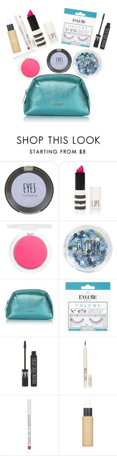 """Topshop Beauty Bag - Blue"" by jijikooky on Polyvore featuring beauty and Topshop"