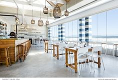This Muizenberg Restaurant Is a Seaside Delight! Places Of Interest, Great View, Cape Town, South Africa, The Good Place, Dining Table, Photography, Seaside, Inspiration
