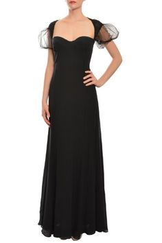 #Escada Couture Silk Ruched Tulle A-line Evening #Gown Dress 8 [List Price: $4,500.00 - Buy New: $1,440.00 ]