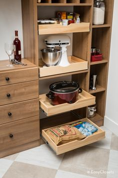 Smart 30 DIY Kitchen Storage Solutions For Your Small Kitchen - Image 26 of 31 Small Kitchen Storage, Kitchen Storage Solutions, Small Space Storage, Small Space Organization, Home Organization, Organizing Ideas, Organization Station, Kitchen Drawers, Kitchen Small