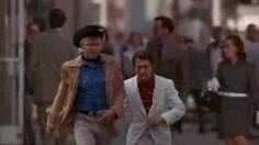 Midnight Cowboy - Im Walkin Here, via YouTube.  - this famous scene was not scripted.