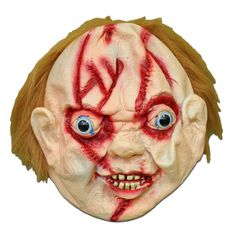 masquerade mask scary chucky halloween mask with hair 1 - Scary Halloween Masks Images
