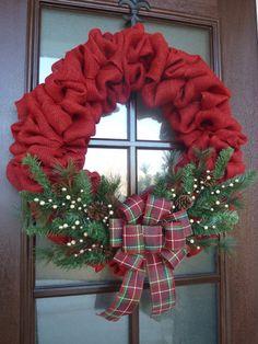 Corona di Natale di tela di ragno rosso di MySweetSouthernHome