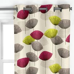 Orla Kiely Scribble Stem Bedding Long Curtainsdandelionsclocksloungeroom