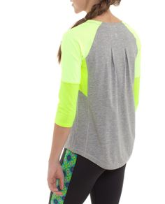 All new Play It Cool 3/4 Sleeve Tee combines three technical fabrics to keep you cool and comfy: Pima Cotton body is super soft, Luxtreme™ top pulls sweat away from your skin and Mesh underarms keeps it breezy.