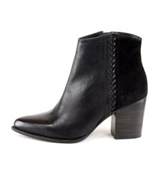 OVERIDER 'JENA' Leather Ankle Boots, western inspired heeled boots, with woven leather detail on side of boot. This boot will work for you with many different looks, adding a touch of yee-haw for the cowgirl inside you. Leather Ankle Boots, Heeled Boots, Shoe Boots, Jena, Booty, Touch, Inspired, Detail, Heels
