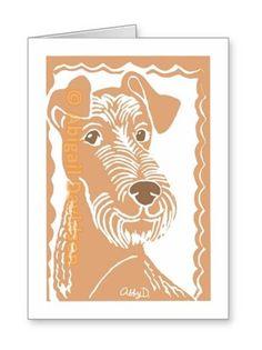 Sold! Thank you to the customer and enjoy! Irish Terrier Art Greeting Card; ArtisanAbigail at Zazzle; Abigail Davidson Art