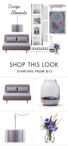 """""""Design Elements"""" by emcf3548 ❤ liked on Polyvore featuring interior, interiors, interior design, home, home decor, interior decorating, Universal Lighting and Decor, LSA International and Chandra Rugs"""