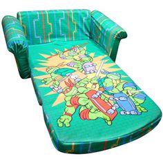 Marshmallow Furniture Flip-Open Sofa, Teenage Mutant Ninja Turtles, Retro
