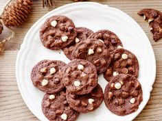 Chocolate Chocolate White Chocolate Chip Cookies recipe from Ree Drummond via Food Network
