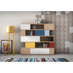 Estantería Moderna Lola >> http://www.ambar-muebles.com/estanteria-moderna-lola.html