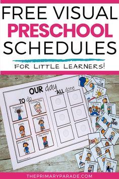 FREE Preschool Visual Schedule